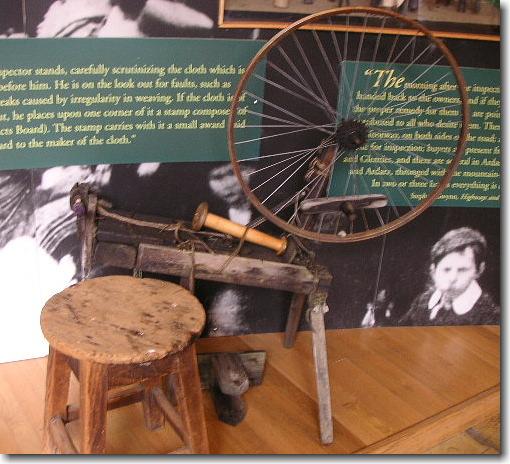 昔の糸紡ぎ機